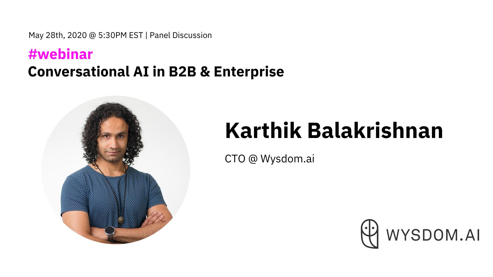 Meet Our Speaker: Kharthik Balakrishnan