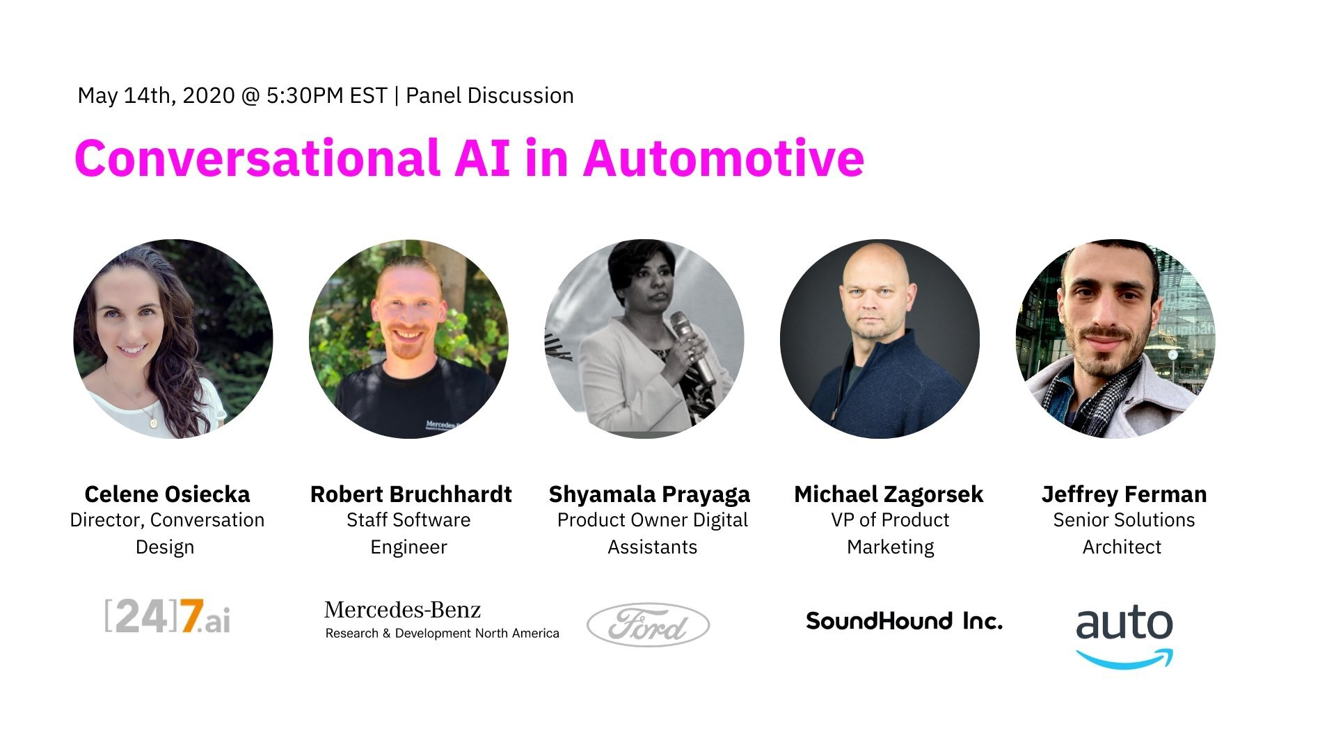 Conversational AI In Automotive Panelists And Event Information