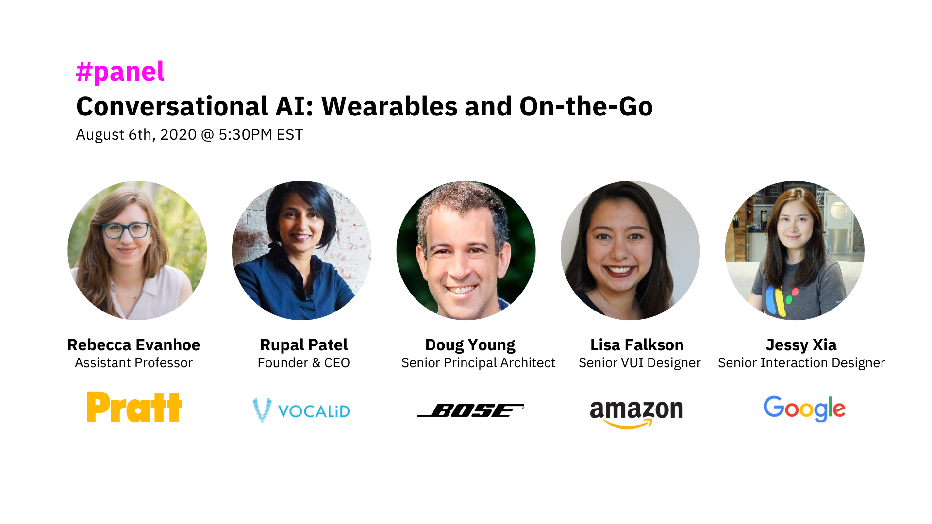 conversational ai for wearables and on the go panel