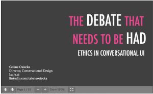 Ethics In CAI Lightning Talk Slides Preview